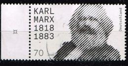 Bund 2018,Michel# 3384 O 200 Geburtstag Von Karl Marx - Gebraucht