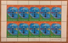 Vaticano 2001 Sass. 1230 Minifoglio Da 10 **/MNH VF - Blokken & Velletjes