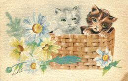 N°77389 -cpa Illustrateur Bernet -chats- - Chats