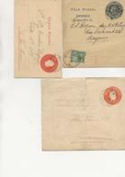 ARGENTINE - LOT DE 3 ENTIERS POSTAUX  1901-1902 - Interi Postali