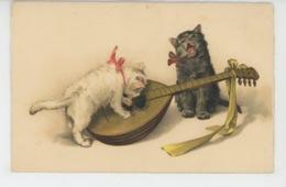 CHATS - CAT - Jolie Carte Fantaisie Chats Musiciens - Chats