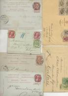 BELGIQUE  - LOT DE 6 ENTIERS POSTAUX  DE 1895 A 1931 - Letter-Cards