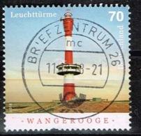 Bund 2018,Michel# 3392 O  Leuchttürme: Wangerooge - Gebraucht