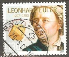 Switzerland: Single Used Stamp, 300 Years Of L.Euler, 2007, Mi#1998 - Suisse