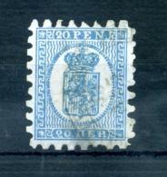 1866-70 FINLANDIA N.8 USATO Assotigliato - 1856-1917 Russian Government