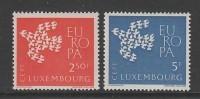 PAIRE NEUVE DU LUXEMBOURG - EUROPA 1961 N° Y&T 601/602 - Europa-CEPT