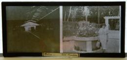 Plaque De Verre - 2 Vues - Métro - Petit Moulin - Femme - Lieu à Identifier - Animée - Glass Slides