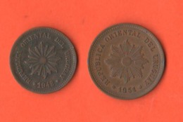 2+ 5 Centèsimos Centesimi 1948 E 1951 Uruguay - Uruguay