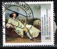 """Bund 2018,Michel# 3393 O  Johann Heinrich Wilhelm Tischbein """"Goethe In Campagna"""" - Gebraucht"""