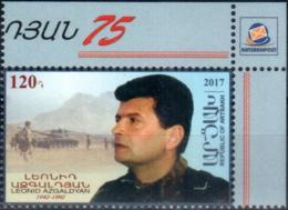 "Republic Of Artsakh 2017 ""75th Anniv.of Leonid Azgaldyan (1942-1992) Military Chief, Physicist"" 1v Quality:100% - Armenia"