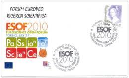 6.- ITALY 2010. SPECIAL POSTMARK. ESOF 2010. EUROSCIENCE OPEN FORUM. PERIODIC TABLE. TORINO - Química