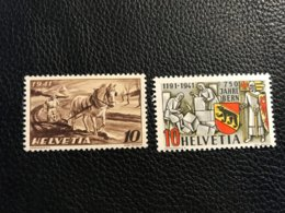 Schweiz 1941 Zumstein-Nr. 252-253 ** Postfrisch - Unused Stamps