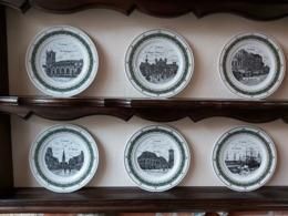 * Oostende - Ostende (Kust Littoral) * 6 Exclusieve Borden In Porselein Oostende (kunstenaar: G. Swaenepoel) Te Ieper - Porselein & Ceramiek