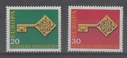 PAIRE NEUVE D'ALLEMAGNE FEDERALE - EUROPA 1968 N° Y&T 423/424 - Europa-CEPT