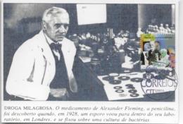 CARTE MAXIMUM - CARTOLINA MAXIMA-  MAXIMUM CARD - PORTUGAL - LE 20ème SIECLE - ALEXANDER FLEMING DÉCOUVREZ PÉNICILLINE - Medicine