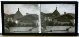Plaque De Verre Stéréo - Paris - Expo 1937 - Chalet De Savoie - Animée - Glasdias