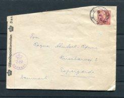 1945 Sweden - Denmark Censor Cover - Lettres & Documents