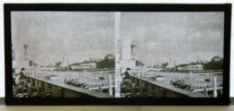 Plaque De Verre Stéréo - Paris - Expo 1937 - La Seine - Animée - Plaques De Verre