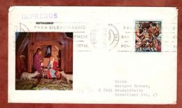 Illustrierter Umschlag Krippe, Drucksache, Weihnachten, Band-MS Madrid, Nach Grossstoebnitz 1967 (80762) - 1931-Heute: 2. Rep. - ... Juan Carlos I