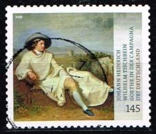 """Bund 2018,Michel# 3397 O  Johann Heinrich Wilhelm Tischbein """"Goethe In Campagna"""", Selbstklebend - Gebraucht"""