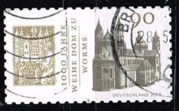 Bund 2018,Michel# 3398 O  1000 Jahre Weihe Des Doms Zu Worms, Selbstklebend - Gebraucht