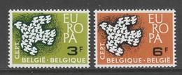 PAIRE NEUVE DE BELGIQUE - EUROPA 1961 N° Y&T 1193/1194 - Europa-CEPT