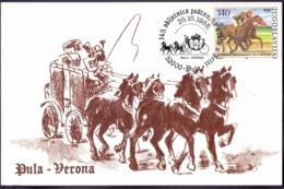 YUGOSLAVIA - HRVATSKA - ISTRIA - 145y POST STAGE-COACHE  POLA  VERONA  - POLA - 1988 - Stage-Coaches