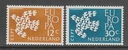 PAIRE NEUVE DES PAYS-BAS - EUROPA 1961 N° Y&T 738/739 - Europa-CEPT