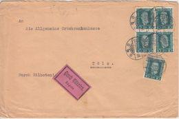 DR - 5x10 Pfg. H. V. Stephan Eilbrief Ebermannstadt - Bad Tölz 1924 - Deutschland