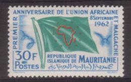 TIMBRE NEUF DE MAURITANIE - ANNIVERSAIRE DE L'UNION AFRICAINE ET MALGACHE N° Y&T 159 - Organizations