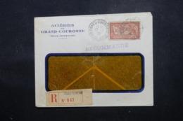 FRANCE - Enveloppe Commerciale De Grand Couronne En Recommandé En 1920, Affranchissement Plaisant - L 44199 - Marcophilie (Lettres)