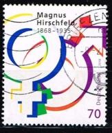 Bund 2018,Michel# 3403 O 150. Geburtstag Von Magnus Hirschfeld - Gebraucht