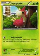 Carte Pokemon 6/124 Chenipotte 60pv 2012 - Pokemon