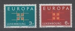 PAIRE NEUVE DU LUXEMBOURG - EUROPA 1963 N° Y&T 634/635 - Europa-CEPT