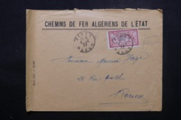 FRANCE / ALGÉRIE - Enveloppe Commerciale De Alger En 1922 Pour Rouen, Affranchissement Plaisant - L 44200 - Marcophilie (Lettres)