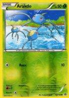 Carte Pokemon 13/160 Arakdo 50pv 2015 Reverse - Pokemon