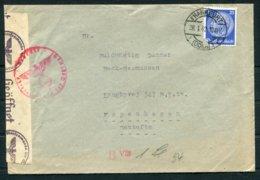 1942 Germany Frankfurt Censor Cover - Copenhagen Denmark - Germany