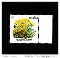 MALTA - 2006  1 C.  FLOWERS  REPRINT  MINT NH - Malte
