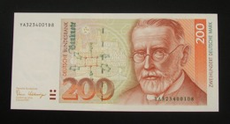 Germany 200 DM Mark 1989 UNC Replacement YA - [ 7] 1949-… : RFD - Rep. Fed. Duitsland