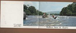 T55 Guyane CPSM Double Meilleurs Voeux (pirogues Dur Le Maroni) ( Delabergerie) - Guyane