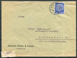 1940 Germany Lubeck Censor Cover - Denmark - Germany