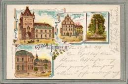 CPA - TURCKHEIM (68) - TURKHEIM - Gruss Lithographique Multivues De 1898 - Turckheim