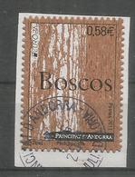 ANDORRA. EUROPA 2011.Les Forêts. Timbre En Bois (liège) Adhesif, , Oblitéré 1 ère Qualité, Sur Fragment Lettre - 2011
