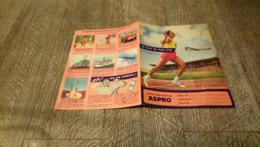 Protège Cahier Offert Par Aspro De Plus En Plus Vite Sport - Book Covers