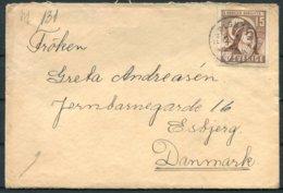 1942 Sweden 15ore Birggita Censor Cover + Letter - Esbjerg Denmark - Briefe U. Dokumente