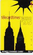USA(Tamura) - Telecardtimes Expo 95, Nynex Telecard $2, Tirage 10000, Mint - Magnetische Kaarten