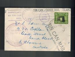 1938 Tonga Toga Tin Can Canoe Mail Cover To Melbourne Australia - Tonga (1970-...)
