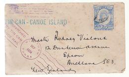 1934 Tonga Toga Tin Can Canoe Mail Cover To The USA - Tonga (1970-...)