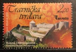 Bosnia And Hercegovina, 2019, Travnik Fortress, Error, Stamp Is Withdrawn (MNH) - Bosnia And Herzegovina