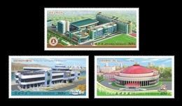 North Korea 2019 Mih. 6621/23 Monumental Edifices. Teachers College. Football. Fish Restaurant. Orchestra Theatre MNH ** - Corée Du Nord